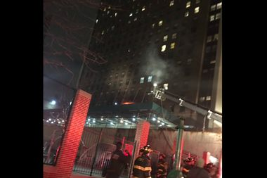 A large fire broke out on the third floor of 515 W. 59th St., according to the FDNY.