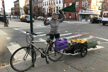Shawn Walsh, owner of Say Grace Delivery, launched the service in Bedford-Stuyvesant this December to deliver goods from local businesses.