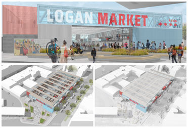 Local architect Josh Hutchison is proposing a year-round market for the city-owned parking lot next to the Logan Square Blue Line station.