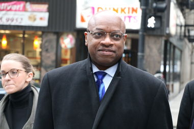 South Side Ald. Willie Cochran walks into the federal courthouse Friday.