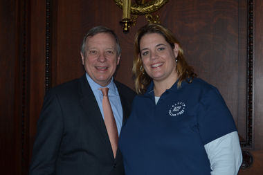 U.S. Sen. Dick Durbin invited teacher Jenny Vincent and her Alcott students to his VIP constituent breakfast at President Obama's second inaugural.