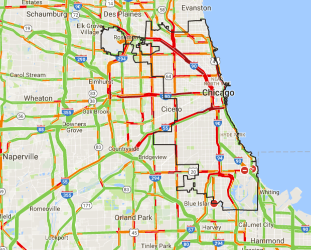 Afternoon Traffic Map Here39s What39s Happening Right Now