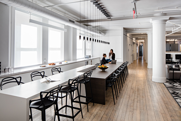 10 trends for nyc 39 s office buildings hotels and retail in for Modern real estate office design