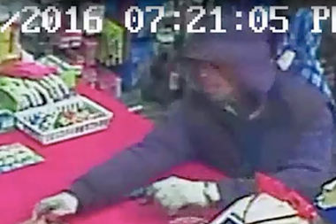 The suspect stole more than $2,200 over four robberies between Dec. 6 and Dec. 20, police said