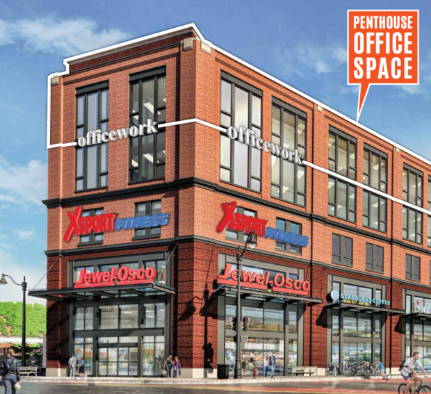 In a brochure  promoting the $100 million development , real estate broker Sierra U.S. announced that Jewel-Osco and XSport Fitness are set to open in the former mall at 2500 N. Milwaukee Ave.