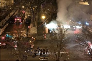 A fire broke out at Diner Grill late Christmas Eve.