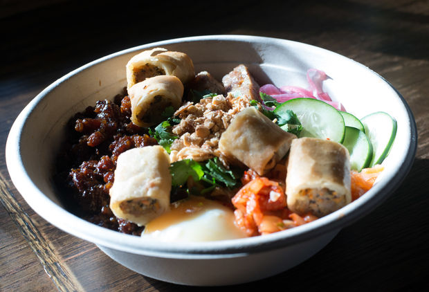 The owners' favorite, the JoJu, features two kinds of meat.