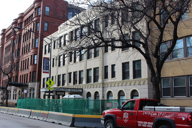 The Carling Hotel, a former single-room-occupancy building at 1512 N. LaSalle St., is being converted to an 80-unit mixed-income apartment.