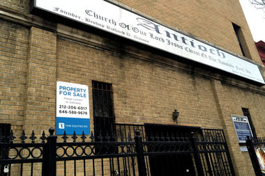 Antioch Church of Our Lord Jesus Christ on Bedford Avenue near Herkimer Street is on the market after lack of parking in the area has stunted the church's growth, the pastor said.