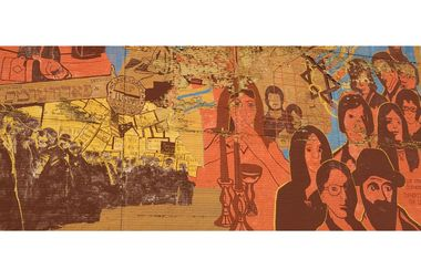 The Jewish heritage mural had graced the side of a Bialystoker office building since 1973.