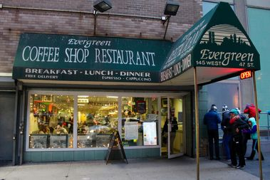 The Evergreen Diner at 145 W. 47th St., between Sixth and Seventh avenues.