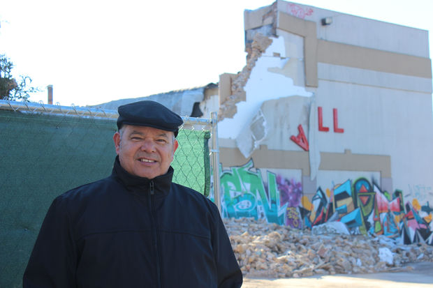 Peter Contreras, 65, spent more than four hours watching the mall come down on Wednesday.