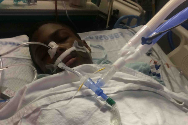 Michael Moss, 15, has been in intensive care at Comer Children's Hospital since being shot four times on Dec. 19.