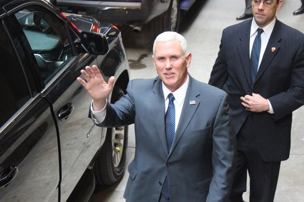 The vice president-elect was in Chicago on Dec. 30 raising money for the Republican Party.