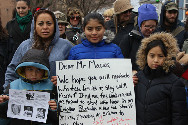 The Ortiz family is being evicted from their home to make way for a luxury