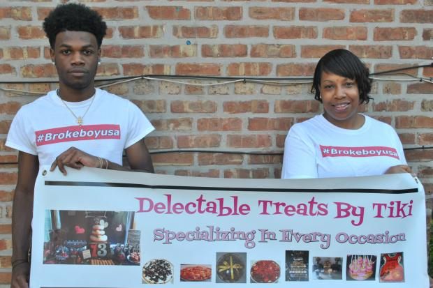 David Gilliard and his mom Tanika Coleman show off their respective businesses.