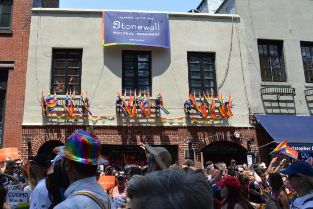The 2016 Pride parade passed by Stonewall Inn, which President Obama declared to be a national monument