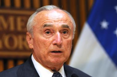 NYPD Commissioner Bill Bratton speaks at One Police Plaza on Monday, June 27, 2016.