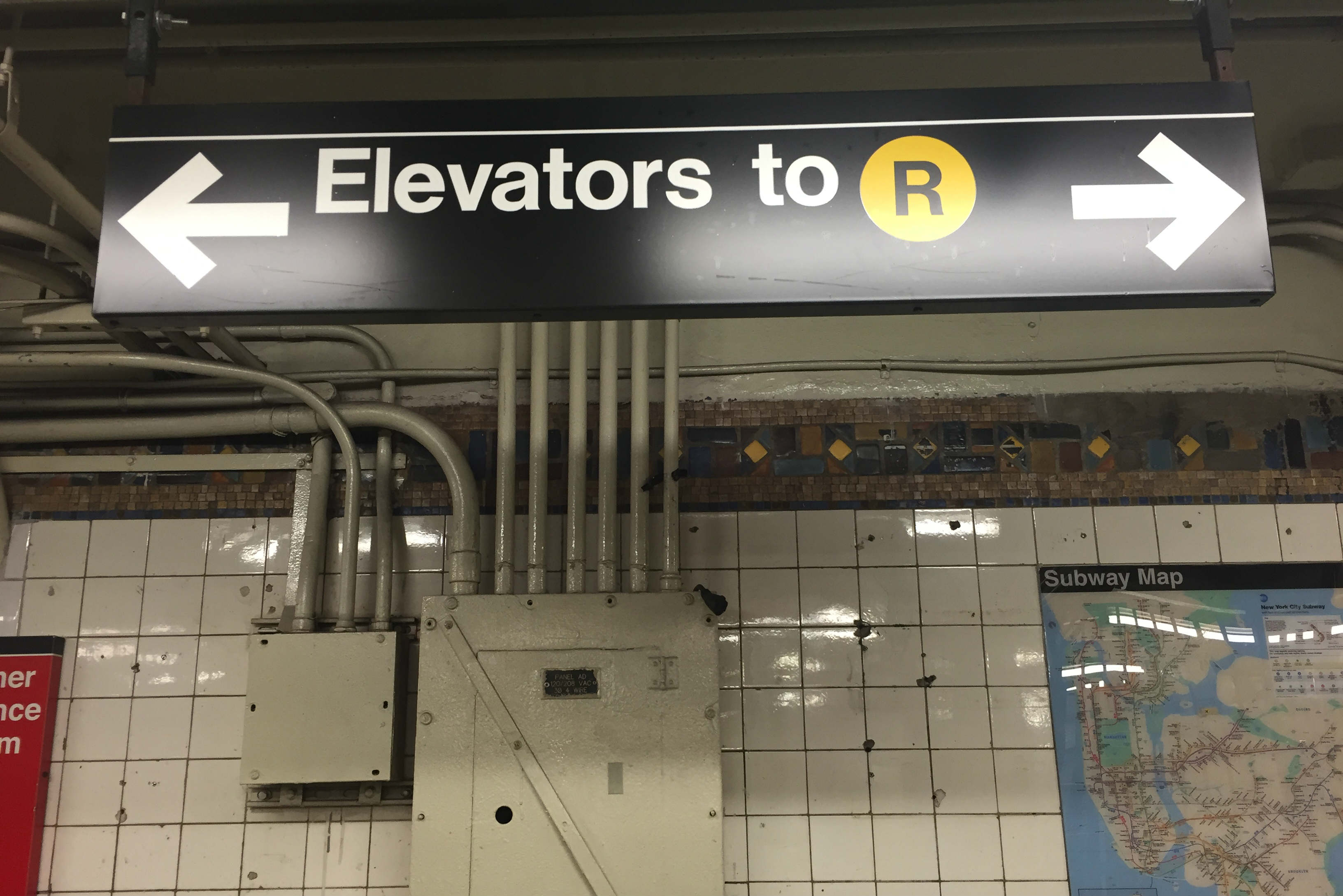 Mta Subway Map Elevators.People Trapped In R Station Elevator Rescued By Sisters Who Heard