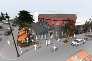 A rendering of Colectivo Coffee's first Chicago cafe at 2530 N. Clark St.
