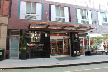 The Holiday Inn is located at 148 Delancey St.