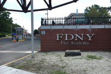 They were injured during a training exercise at the Randall's Island facility, officials said.