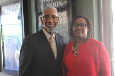 U.S. Rep. Bobby Rush and Nedra Fears, Greater Chatham Initiative executive director