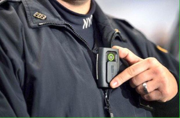 A body camera used by the NYPD for the first pilot program in 2014. A questionnaire launched on June 29, 2016 polls the public about how they think police should use the technology.