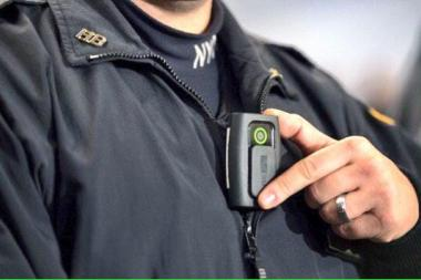 A body camera used by the NYPD for the first pilot program in 2014.