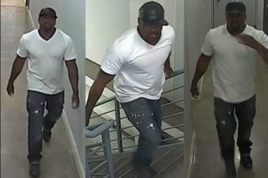 Police are looking for this man wanted in connection with a series of thefts.