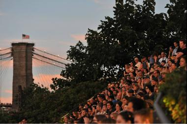 The audience during Brooklyn Bridge Park's summer