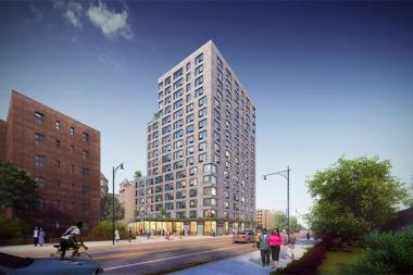 A new 145-unit affordable housing building will offer services specifically for LGBT seniors at the Ingersoll Houses.