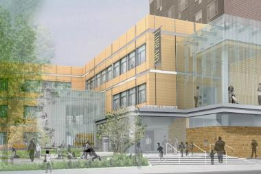 The new Elmhurst Library is slated to open to the public in late fall.