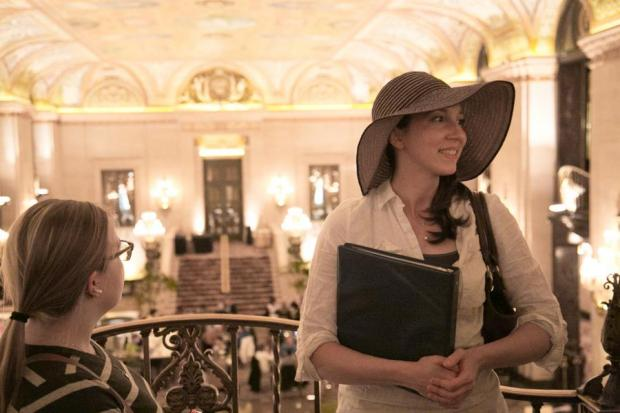 Hillary Marzec, owner of Inside Chicago Walking Tours