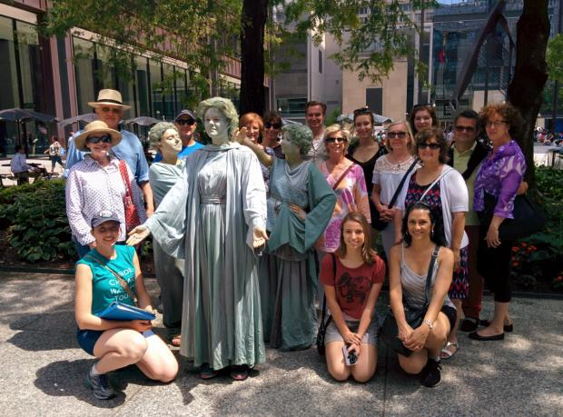A group during an Inside Chicago Walking Tour