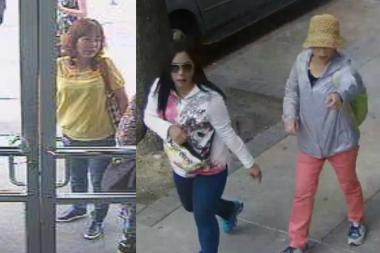 Police in June released images of women suspected in the scam.