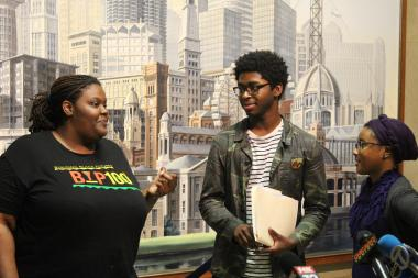 BYP100 members Rachel Williams, Immanuel Sodipe and Camesha Jones say extending hate crime protections to police officers would have a chilling effect on protest.
