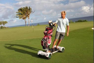 Laird Hamilton rides a GolfBoard