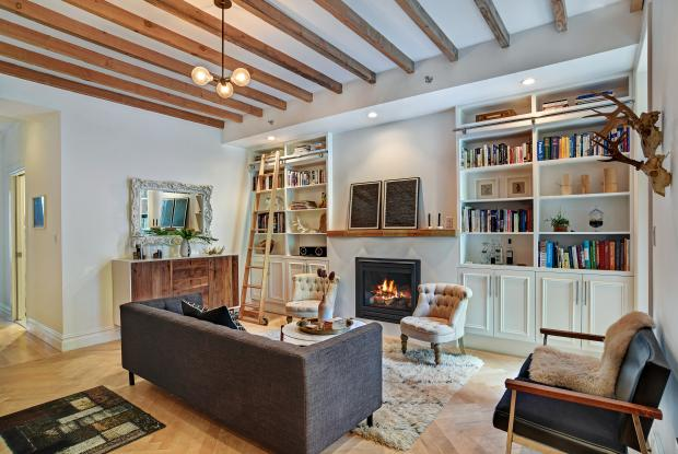 This 2-bedroom/2-bath condo at 256 Cumberland St. in Fort Greene, with a high-end renovation including a Viking range and glass paneled fireplace, was recently listed by Corcoran for $1.475 million.