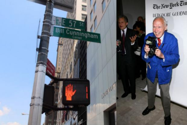 The corner of 57th Street and Fifth Avenue will be Bill Cunningham Corner for the next week.