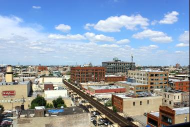A view of Fulton Market from The Parker.