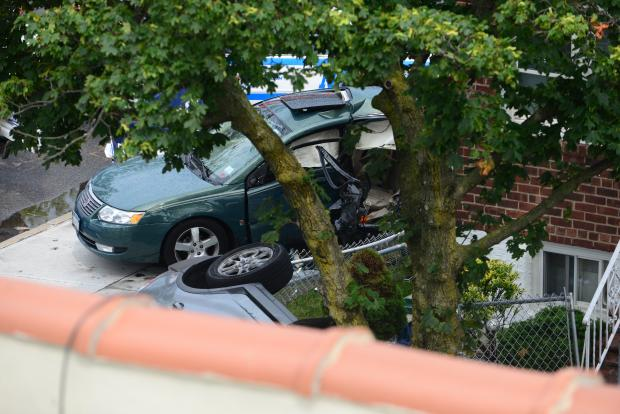 A woman was killed after an SUV crashed on Linden Boulevard on July 7, 2016.