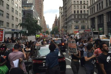 40 People Arrested While Protesting Shootings by Police, NYPD Says