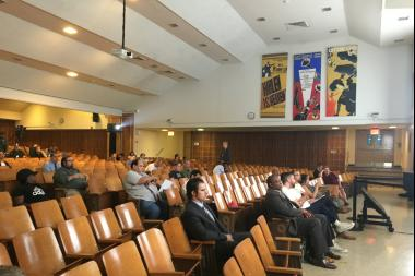 Just a handful of Bushwick residents showed up to learn about the L and M train repairs.