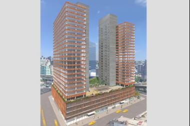 Tishman Speyer is building the 1.1 million-square-foot project, which will contain two 27-story towers.