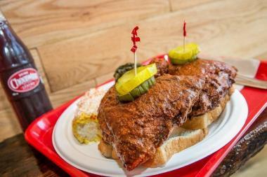 A Nashville hot chicken sandwich from The Budlong.