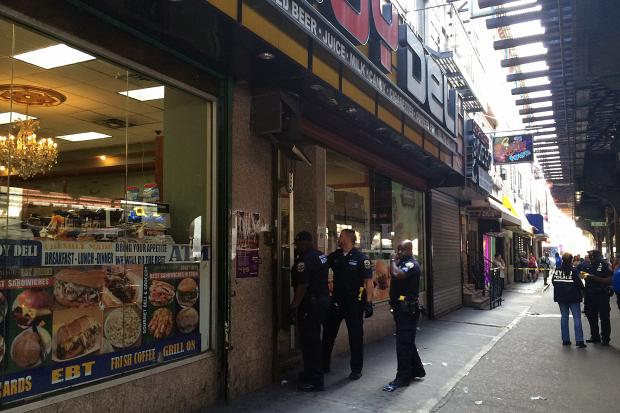 City sheriffs raided the Big Boy Deli at 928 Broadway in Brooklyn a day after 33 people overdosed on K2, July 13, 2016.