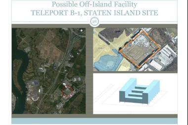 Despite housing three schools and having bids put out to attract new businesses to the location, the city eyed Staten Island's Teleport as a potential site for a jail.