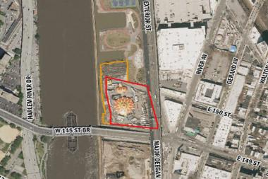 The city hopes to develop a portion of the South Bronx waterfront by the W. 145th Street bridge with an affordable housing complex.
