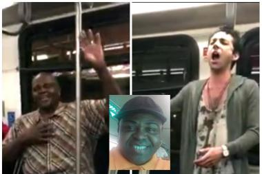 Singer Reginald Hughes got into an impromptu sing-off with another passenger aboard a CTA bus earlier this month.